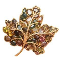 verdura jewelry brooches | Lovely Verdura Maple Leaf Brooch at 1stdibs