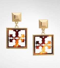 And a happy birthday to my other sis-in-law... {Tory Burch Small Resin Logo Drop Earrings}