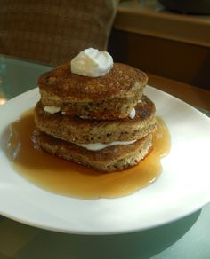 Pancakes with Flax Seed and Oatmeal for One