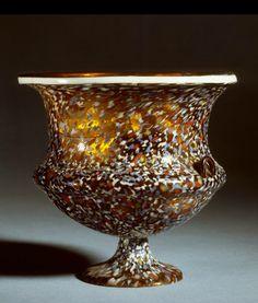 A Roman drinking glass, 1-100 A.D.