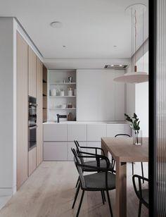Scandinavian Kitchen Design Modern Decor – Home Decoration and Improvement Kitchen Sets, Home Decor Kitchen, Home Kitchens, Kitchen Layout, Island Kitchen, Kitchen Trends, Dream Kitchens, Interior Desing, Home Interior