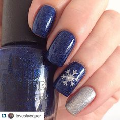 Gel Nail Designs You Should Try Out – Your Beautiful Nails Best Nail Art Designs, Winter Nail Designs, Acrylic Nail Designs, Holiday Nails, Christmas Nails, Nail Decorations, Gorgeous Nails, Blue Nails, Simple Nails