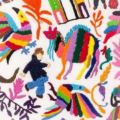 Bordé hasta que mis manos hablaron otro idioma ✂️ #caminoatenango #estudioGimenaRomero #gimenaromero #broderie #embroidery #bordado #ilustraciontextil #ilustracióntextil #textileillustration #yoicitas #thuleediciones