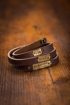 Leather Wrap Bracelet || wearing words || be the change