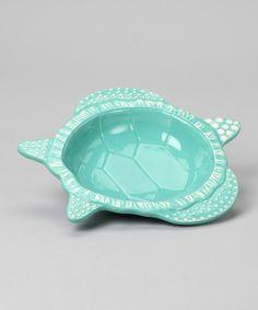 Turtle ceramic bowl.