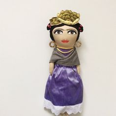 Hey, I found this really awesome Etsy listing at https://www.etsy.com/listing/225491057/frida-kahlo-doll-purple-silk