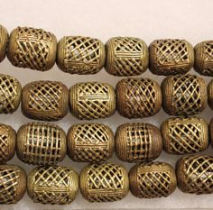 African Brass Beads Tribal Beads African Spacer by ColorSquare
