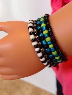 American Girl Jewelry Stacking Bead Bracelets by ADollsDelight, $7.00