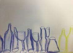 Teaching, children, bottles, chalk