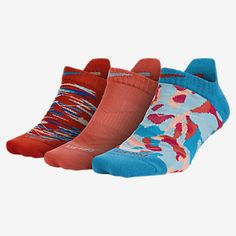 Nike Graphic Tab No-Show Socks (3 Pair)