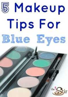 Who knew that a little makeup could make blue eyes look THIS good?! LOVE these tips!!