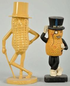 Mr. Peanut!  I have the bank on the left... mine is red, though. (we all got one, from Grandma and Grandpa)