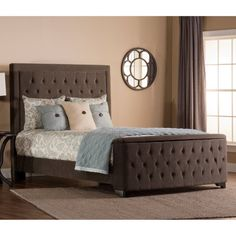 Hillsdale Kaylie Upholstered Bed with Storage Footboard