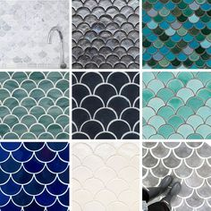 Looking For Fish Scale Tiles? Where to Find Our Favorites — Remodeling Resources http://www.apartmenttherapy.com/tile-best-sources-for-fish-scale-fan-and-scallop-design-237118