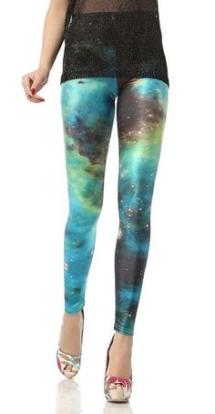 Galaxy Blue Leggings Design 453