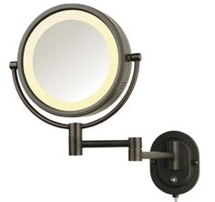 Jerdon HL65BZ 8-Inch Lighted Wall Mount Mirror, 5X Magnifica $79.95