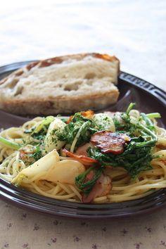 冬野菜とベーコンのペペロンチーノ*レシピ by chi-さん   レシピ ...