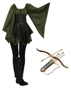 This is cool, but it looks like a costume. I'd probably rough it up and add some more detailing. Cool concept though! Renaissance Fair Costume, Medieval Costume, Medieval Dress, Elven Costume, Archer Costume, Renaissance Dresses, Elven Dresses, Elven Cosplay, Medieval Fashion