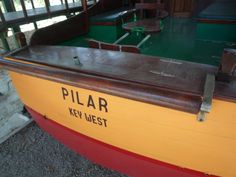 Hemingway's boat, Pilar, now dry-docked at the bottom of his garden at La Finca Vigia, Cuba.