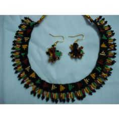 traditional and ethnic beaded jewellery set.  Buy from www.craftsvilla.com #craftsvilla #jewellery #polki #pearl #earrings #india