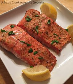 What's Cooking in the Suburbs: Lemon Garlic Roasted Salmon