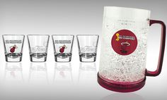 Groupon - Boelter NBA Champions Pints, Shot Glasses, Freezer Mugs, or Straw Tumblers (Up to 46% Off). Free Shipping and Returns.. Groupon deal price: $19.99