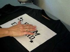 Make a tshirt stencil with common Freezer Paper. Done this a few times, and still love doing it!