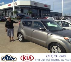 https://flic.kr/p/HACALU | Happy Anniversary to Anna on your #Kia #Soul from Abel Moreno at Fredy Kia! | deliverymaxx.com/DealerReviews.aspx?DealerCode=OLRT
