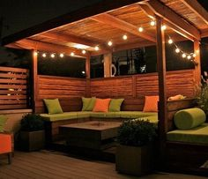 Amazing Modern Pergola Patio Ideas for Minimalist House. Many good homes of classical, modern, and minimalist designs add a modern pergola patio or canopy to beautify the home. Backyard Gazebo, Backyard Seating, Backyard Patio Designs, Backyard Landscaping, Backyard Ideas, Diy Pergola, Cozy Backyard, Rooftop Patio, Pergola Kits