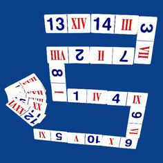 Matching Roman Numeral and Arabic Numeral Dominoes