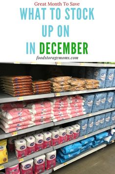 December is a great month to stock up on so many items we all need. Let's get started saving money right now. December is a great month to stock up on so many items we all need. Let's get started saving money right now. Emergency Preparedness Food, Hurricane Preparedness, Emergency Preparation, Survival Food, Survival Prepping, Survival Skills, Survival Shelter, Homestead Survival, Camping Survival