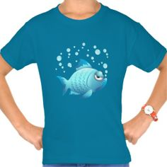 ☆SOLD this #Grumpy #Fish #Cartoon #Shirt!  ☆  -  by BluedarkArt on #Zazzle  -  $26.45  -   Thanks a lot to the Buyer(ツ) http://www.zazzle.com/grumpy_fish_cartoon_shirt-235272165032465902