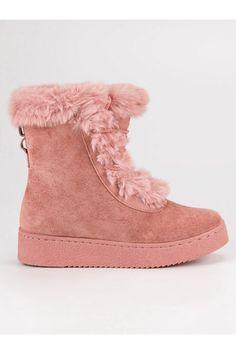 Zateplené ružové topánky s kožušinou CnB Ugg Boots, Uggs, Winter, Shoes, Fashion, Winter Time, Moda, Zapatos, Shoes Outlet