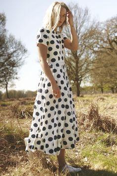 Cabbages & Roses Big Spots Glenda Dress