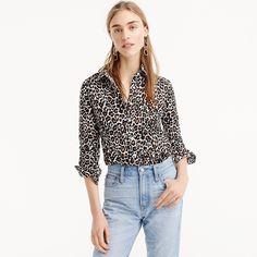fecd366d326 Drapey tie-neck sleeveless top in leopard print   Women shirts   tops