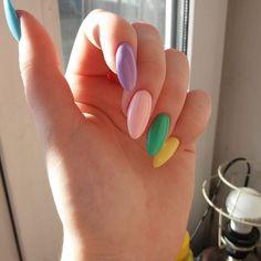 Summer Nail Designs - My Cool Nail Designs Dream Nails, Love Nails, My Nails, Pastel Nails, Acrylic Nails, Acrylics, American Nails, Rainbow Nails, Manicure E Pedicure