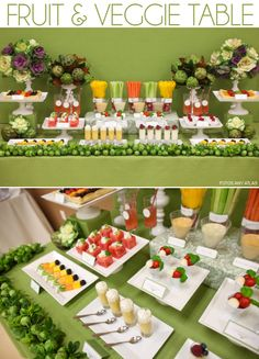 Fruit and veggie table