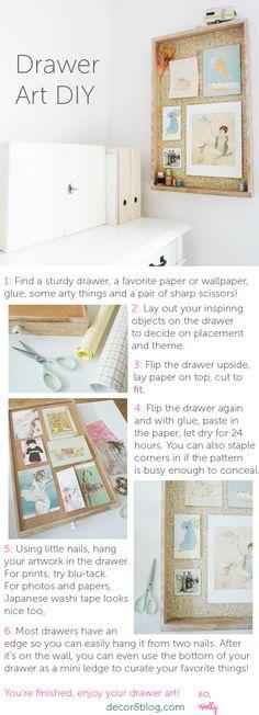 DIY Drawer Art