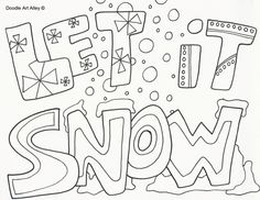 Coloring Pages Of Snow