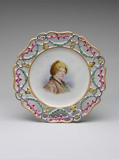 Benjamin Franklin  Pierrette Caudelot Perrin  (died 1793)  French,   Date:      1770–1800  - Marseille, France, Faience