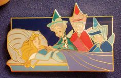 RARE Disney Auctions Sleeping Beauty Aurora Asleep Fairies Merryweather LE Pin