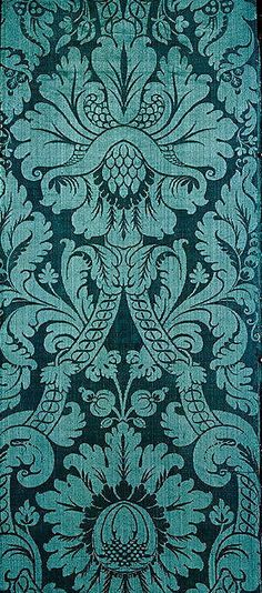 Italian silk, late 17th C.