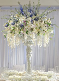 Tall Centerpieces | Inspirations  Bride and Groom table