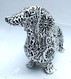 Dachshund sculpture - Doodle Dog by Dan Fenelon by BoontonArts on Etsy