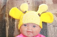 giraffe infant beanie
