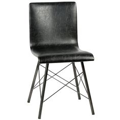 The Messina Dining Chair is by Dovetail, a company known for developing an expertise in sourcing an eclectic range of handmade furniture, accessories and textiles from around the world. With their mix of rustic, industrial and contemporary furnishings, you are sure to find something to complete your space!  - Steel tube construction - Powder coated paint finish - Bicast leather upholstery  Dovetail is one of the largest importers and wholesale distributors on the West Coast of fine han...