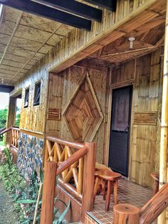 50sq.m Nipahut Rest House, House In The Woods, Bahay Kubo Design Philippines, Cabana, Filipino House, Bamboo House Design, Bamboo Building, Coffee Shop Interior Design, Bamboo Construction