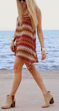 Love this boho dress and booties! Find Brand name fashions like this with awesome discounts at Studentrate!