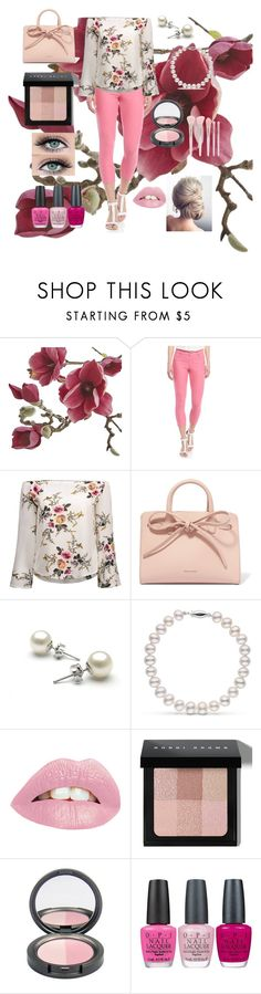 """""""Pink floral"""" by vidonni84 ❤ liked on Polyvore featuring Crate and Barrel, Hue, Mansur Gavriel, Bobbi Brown Cosmetics, OPI and Forever 21"""