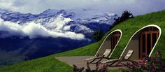 """The magic of the """"green"""" and the effect of heat insulation, is provide by the earth side embankments   I LOVE THIS!"""